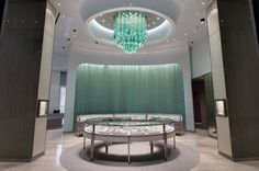 Grade Architecture + Design referenced the legendary Fifth Avenue flagship in New York for the grand showroom of Tiffany & Co. in Taipei, Taiwan. Photo courtesy of Grade.