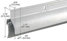 """Crl Aluminum Door Sweep-Rain Drip Combination For 36"""" Door - Db037Av36"""