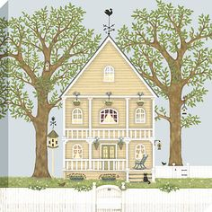 Buy Sally Swannell - Summer House Framed Print, 50 x 50cm Online at johnlewis.com