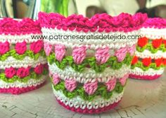 Cómo tejer el punto tulipán al crochet / Tutorial en video   Crochet y Dos…