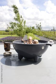 Dutch Tub by Weltevree- take a warm dip and have some wok on the side
