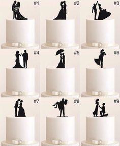 Hochzeitsdeko - Tortenfigur Cake Topper Wedding Hochzeit Acryl - ein Designerstück von www_edelstahlheini_de bei DaWanda