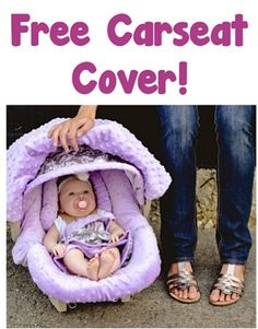 FREE Carseat Canopy Cover! {just pay s/h} - these make the BEST Baby Shower gifts!! #thefrugalgirls