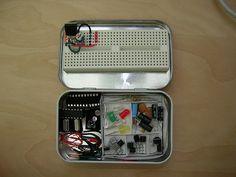 altoid tin recycled diy electronics kit