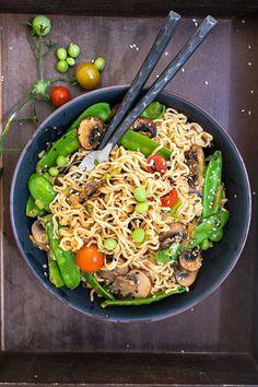 Gluten Free Ramen, Gluten Free Noodles, Gluten Free Dinner, Gluten Free Recipes, Ramen Dishes, Easy Summer Dinners, Asian Recipes, Ethnic Recipes, Stuffed Mushrooms