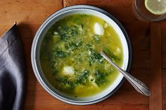 A Lighter Spinach and Parmesan Egg Drop Soup, a recipe on Food52