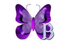Purple Butterfly Alphabet ~ Jewels Art Creation