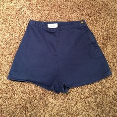American apparel high waisted shorts Gently used, slightly faded. Size 26/27 American Apparel Shorts