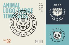 Animal Logo/Badge Templates Vol.2 by GraphicBurger on @creativemarket