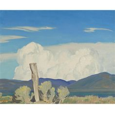 Artworks of Maynard Dixon (American, 1875 - Western Landscape, Landscape Art, Landscape Paintings, Landscapes, Maynard Dixon, Paintings I Love, Small Paintings, Southwestern Art, Desert Dream