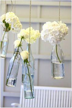 flowers in the bottle