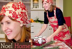 apron and matching headscarf... love the prints! Oh, and this site is awesome!