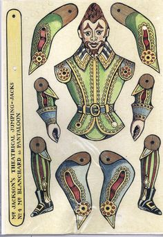 articulated clown paper doll
