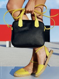 Longchamp 2.0   Black & Yellow/ The perfect match! SS15   www.longchamp.com