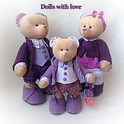 Куклы и игрушки ручной работы. Ярмарка Мастеров - ручная работа дружная семейка. Handmade.