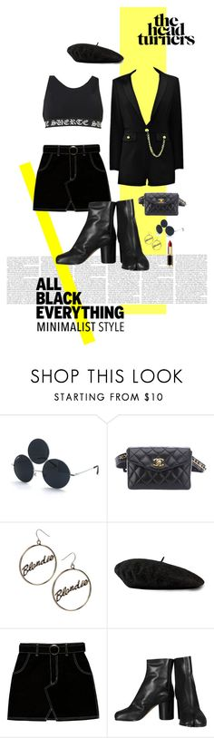 """total black outfit [1]"" by annemxma ❤ liked on Polyvore featuring Chanel, ASOS, Gucci, Maison Margiela and L'Oréal Paris"