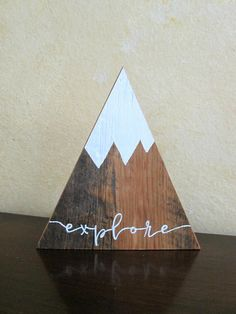 Explore ~ Wood Mountains ~ Wooden Mountains ~ Snow Capped Mountains ~ Triangle Mountains ~ Mountain Shelf Decor ~ Woodland Nursery