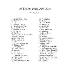 50 Football Party Fo