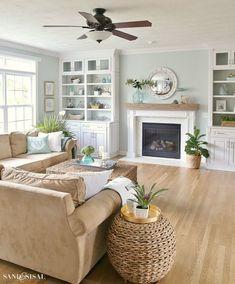 Living Room Farmhouse Style Decorating Ideas 23