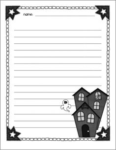 Halloween writing paper, sequencing graphic organizer, and book report form available on this website for free.