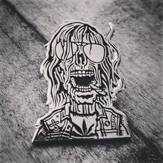 new thing to poke yourself with. this dude just wants to party. - #pin #pingame #pingamestrong #patchgamestrong #enamelpin #teenageburnout #teenageburnoutcorpse #zombie #corpse #livingdead #blueoystercult #69 #playboy #heavymetalparkinglot #yourmother #internetkhole #stoner #hesher #weedian #weed #joint #wb72 #weirdbeard72