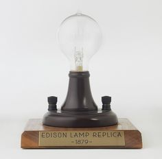 January 27th - 1880. Thomas Edison Granted Patent For Lamp | Parks ...:Thomas Edison invents the incandescent light bulb.,Lighting