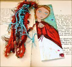FairyTale Bride   Laminated Bookmark  Handmade  by FlorLarios, $8.00