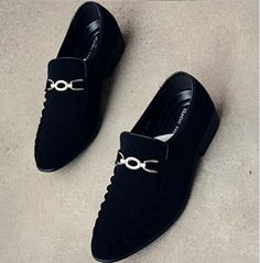 Men shoes Luxury brand Mens Pointed toe Dress shoes Nubuck leather Oxfords Flats wedding shoes chaussure homme Loafers 022