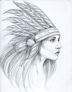 american girl indian tattoo - Szukaj w Google