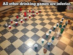 I don't drink but this is actually pretty clever....if you know how to play chess that is