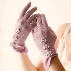 lilac  vintage gloves by whichgoose on Etsy, $30.00