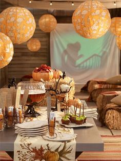 Autumn Leaf Luminaries Set The Mood For A Fall-Themed Party | Available at Pottery Barn | House & Home