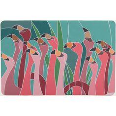 Island Girl Home Flamingo Walk Floor Mat