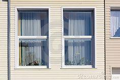 Standard windows  in mass plastic house