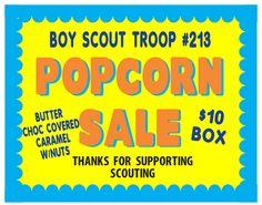 Boy Scouts Popcorn Sale