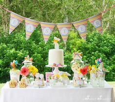 gorgeous easter dessert table