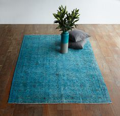A marvellous turquoise blue vintage kilm rug for your home!  Shop the collection now! http://originals.com.sg/collections/turkish-rugs-back-in-stock
