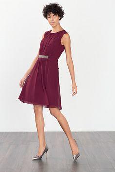 Esprit / Soepele chiffon jurk met sierkraaltjes High Neck Dress, Formal Dresses, Style, Fashion, Dress Ideas, Fashion Ideas, Spirit, Woman, Turtleneck Dress