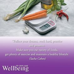 Maintain your healthy lifestyle
