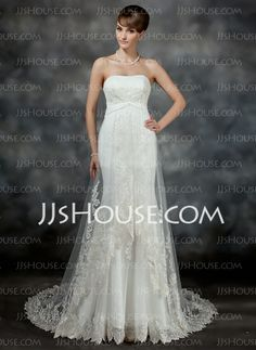 Wedding Dresses - $214.49 - Mermaid Sweetheart Court Train Satin Tulle Wedding Dress With Ruffle Lace (002017186) http://jjshouse.com/Mermaid-Sweetheart-Court-Train-Satin-Tulle-Wedding-Dress-With-Ruffle-Lace-002017186-g17186