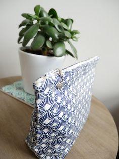 Pochette à projet tricot/couture petite taille motifs éventail