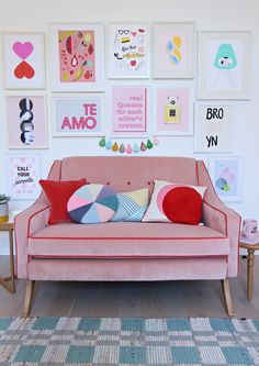 A great sofa upholsterer in London. My collaboration with Sharp & Simpson and Linwood Fabrics. See how my blue sofa turned pink. Inspiration Wall, Living Room Inspiration, Linwood Fabrics, Wall Decor, Room Decor, Scandinavian Interior, I Am Happy, Love Seat, Toddler Bed