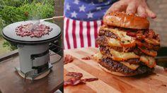 Von wegen Krisenvorsorge. Der EcoZoom kann viel mehr :) Herd, Hamburger, Prepping, Ethnic Recipes, Hamburgers, Loose Meat Sandwiches