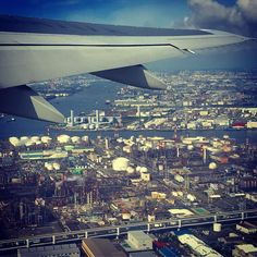 Goodbye tokyo! 20170524 #haneda #tokyo #airplane #飛行機の車窓 #工場萌え #travel #deperture