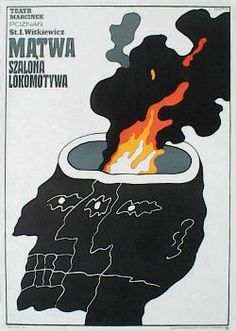 poster designer: Swierzy Waldemar poster title: Matwa Szalona lokomotywa year of poster: 1968 poster nationality: Polish The Art of Poster - The largest collection of Polish posters Typography Poster Design, Graphic Design Posters, Graphic Design Illustration, Polish Movie Posters, Vintage Poster, Chef D Oeuvre, Illustrations, Grafik Design, Book Art