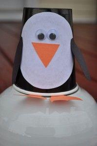 Penguin Paper Cup Crafts