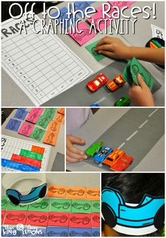 Graphing Activity: Off to the Races- Students use data to build a bar graph and pictograph