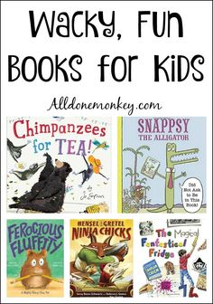 Children will love reading these wacky, fun books for kids. These off-beat picture books will have them laughing themselves silly!