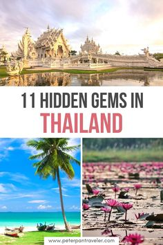Here are the 11 Best Hidden Gems in Thailand, some of Thailand's best-kept secret. Explore the small islands, beautiful beaches, great local restaurants, famous lakes, amazing people and so many beautiful places to see and do. Hidden Gems in Thailand | Thailand Hidden Gems | Thailand Secret Spots | Secret Places in Thailand | Where to go in Thailand | What to do in Thailand | Places to Visit in Thailand | Thailand Travel #thailand #thailandtravel #asia Thailand Adventure, Thailand Travel Guide, Visit Thailand, Asia Travel, Japan Travel, Adventure Travel, Cool Places To Visit, Places To Travel, Travel Destinations
