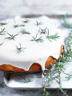 Orange And Rosemary Cake Donna Hay, Desserts, Orange And Rosemary Cake Donna Hay. Köstliche Desserts, Delicious Desserts, Dessert Recipes, Yummy Food, Vegetarian Desserts, Fancy Desserts, Winter Cakes, Cupcake Cakes, Cupcakes